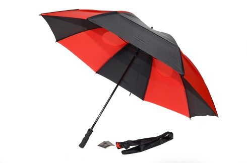 Gustbuster Golf umbrella red black 62''